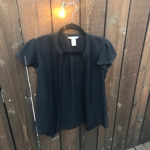 H&M Black blouse with front detail. Size 8